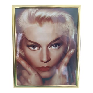 Mid Century Portrait Photo of Blonde Woman Framed