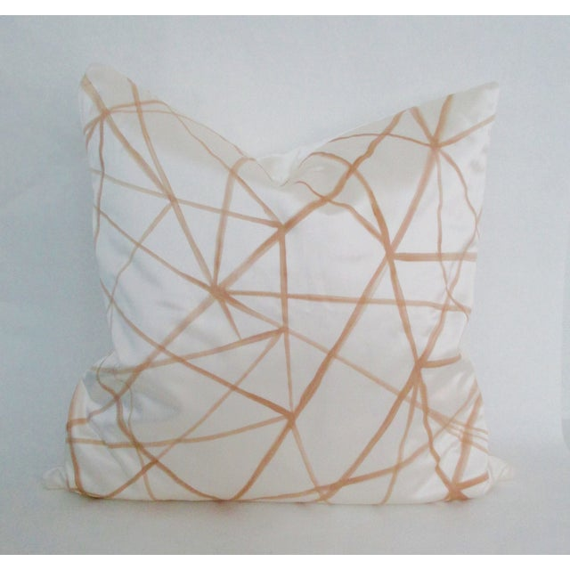 Graphic Abstract Pillow Cover Cream & Gold - Image 2 of 5