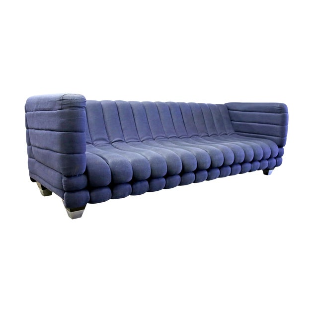 Ligne Roset Inspired Ribbed Contemporary Modern Brazilian Sofa - Image 1 of 7
