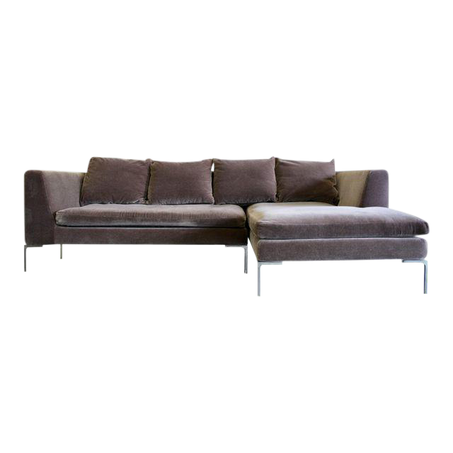 Charles Sofa By Antonio Citterio For Bu0026b Italia In Mohair