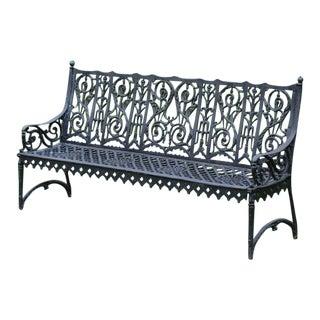 19th-Century Curtain Bench
