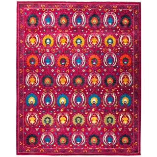 """Suzani Hand Knotted Area Rug - 9'4"""" X 11'3"""""""
