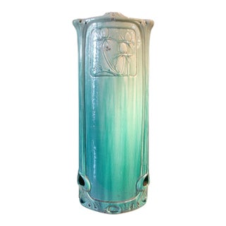 An Art Nouveau Burmantofts Majolica Umbrella Stand