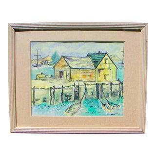 "Nancy Cheek ""California Delta"" Watercolor Painting"