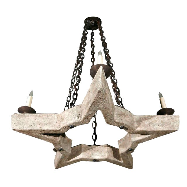 Paul Marra Star Chandelier - Image 1 of 8