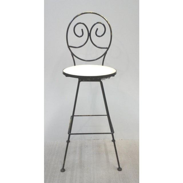 Woodard Scrolled Back Iron Bar Stools - A Pair - Image 4 of 7