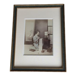 1885 Original Japanese Albumen Photograph, Geisha