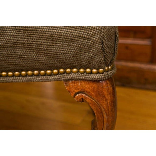 Antique French-Style Walnut Bench - Image 5 of 7