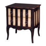 Image of Theodore Alexander Striped Two-Drawer Side Table