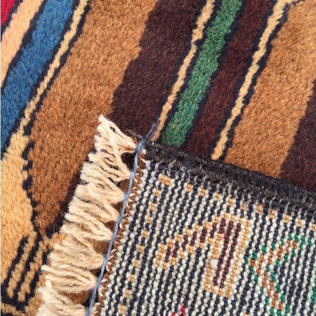 "Vintage Handmade Persian Baluchi Rug - 2'10""x4'7"" - Image 10 of 10"