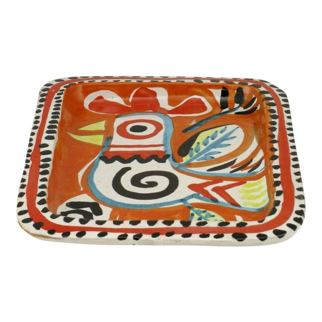 Colorful Italian Majolica Tray Made For Joseph Magnin Co. - Image 1 of 4
