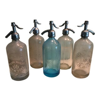 Vintage Seltzer Bottles - Set of 5