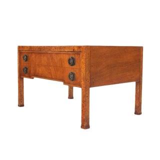 Burl Wood One Drawer Hall Table