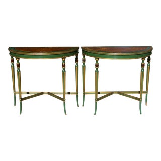 Vintage & Used Traditional Demi-lune Tables | Chairish