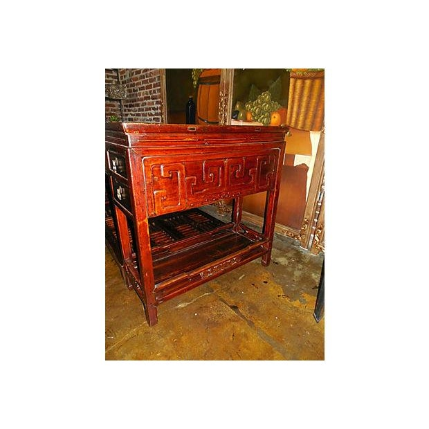 Image of Rare Chinese Rosewood Partner's Desk, C. 1920