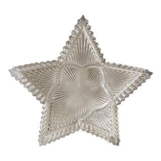 Vintage Crystal Star Serving Dish