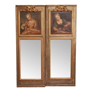 A Louis XVI Style Mirrors with Portraits