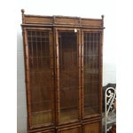 Image of Faux Bamboo China Cabinet