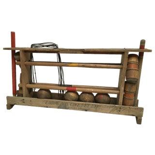 Vintage Complete Croquet - Set in Carrier