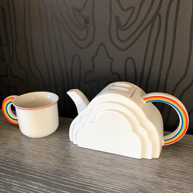 Image of Japanese Cloud and Rainbow Teapot and Mug Set