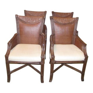 Tommy Bahama Bamboo Dining Chairs - Set of 4