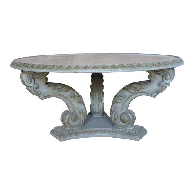 Acanthus Carved Italian Coffee Table - Image 1 of 9