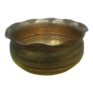 Boho Hammered Brass Bowl