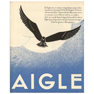 1930s French Art Deco Eagle Giclée Print