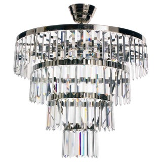 Plafond Chandelier with Nickel X-Prism