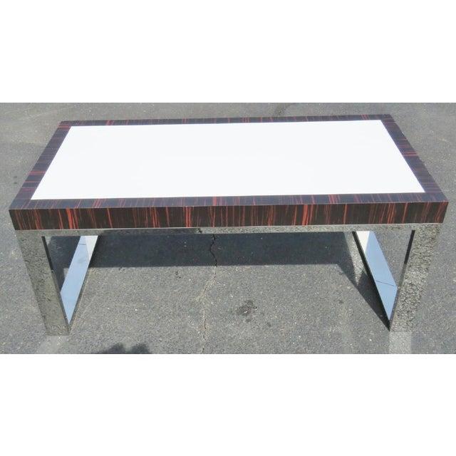 Macassar Chrome Laminate Coffee Table Chairish