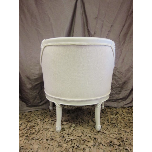 Vintage Pearl Damask Chairs - A Pair - Image 7 of 10