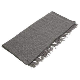 Diamond Patterned Jammu Throw