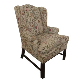 Classic Wing Multi-Color Fabric Upholstered Chair