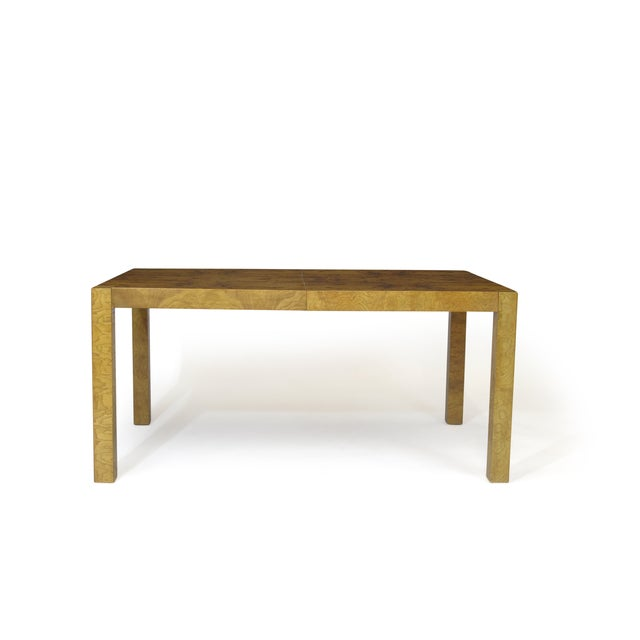 Burled Olive Parsons Dining Table - Image 9 of 9