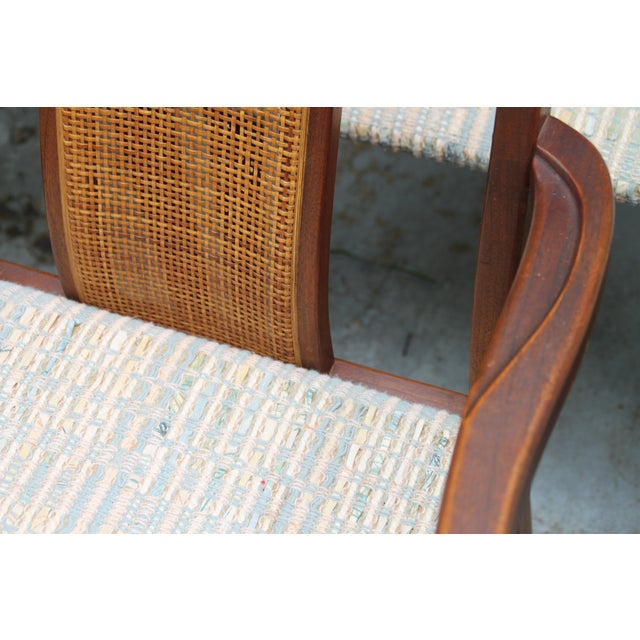 Mid-Century Hibriten Cane Back Chairs - Set of 6 - Image 5 of 11