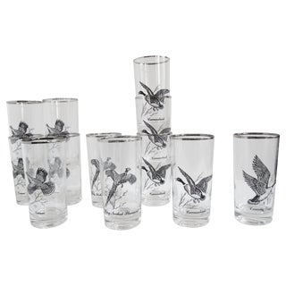Vintage Game Fowl Glassware - Set of 12
