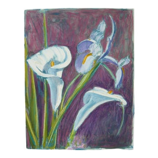 Calla Lily and Iris, Contemporary Drawing