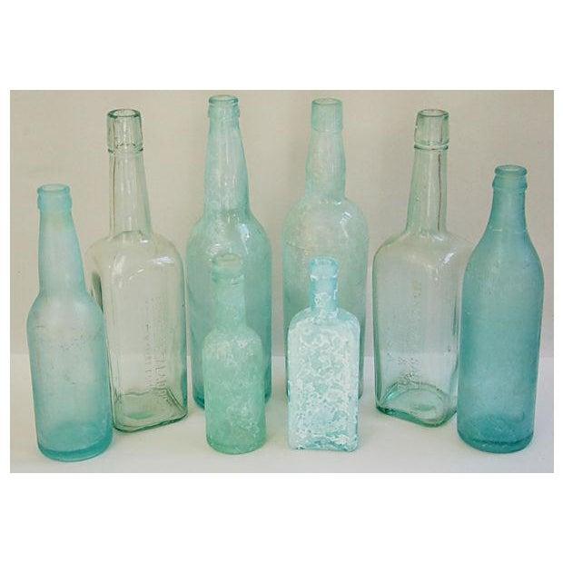 Antique Mediterranean-Blue Bottles - Set of 8 - Image 4 of 8