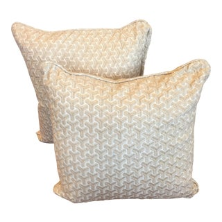Geometric Embroidered Pillows - A Pair