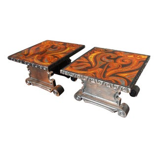 Witco Psychedelic Wood and Resin Tables C.1960s