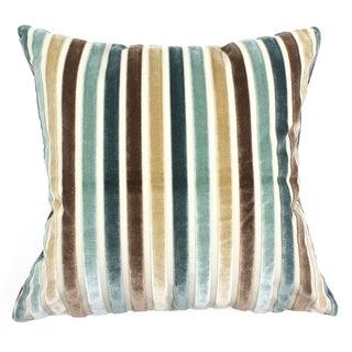 Silk Velvet Stripe Pillows - A Pair