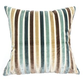 Silk Velvet Stripe Pillows - A Pair
