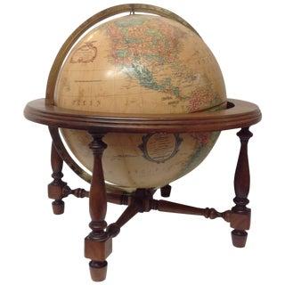 "Mid Century Walnut Repogle 12"" Illuminated Globe"