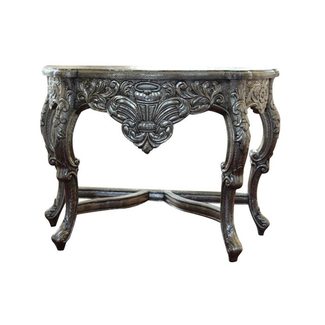 Blackened Silver Royal Dressing Table & Mirror - A Pair - Image 4 of 5
