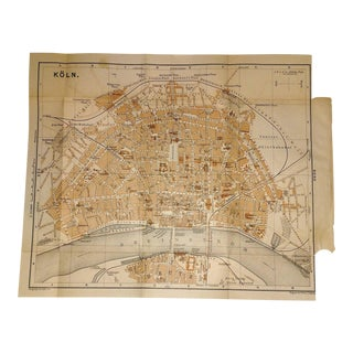 1892 Map Koln Germany (Cologne) Detailed City Map