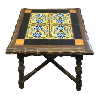 Antique Monterey Tile Table