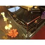 Image of Black Lacquer Art Deco Style Desk