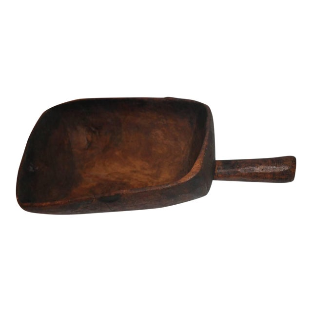 19th Century Original Old Surface Hand-Carved Scoop - Image 1 of 10