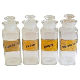 Antique English Apothecary Bottles - Set of 4