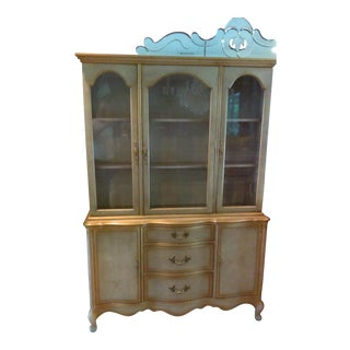 Vintage French Provincial China Display Cabinet